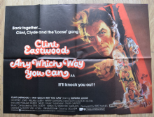 Any Which Way You Can (1980) Film Poster Clint Eastwood - UK Quad